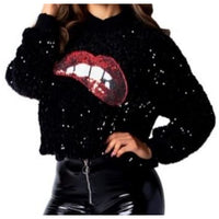 Pucker Up Sequin Sweatshirt