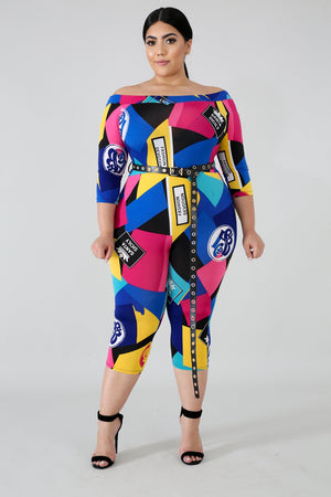 Color Block Jumpsuit (Plus Size)