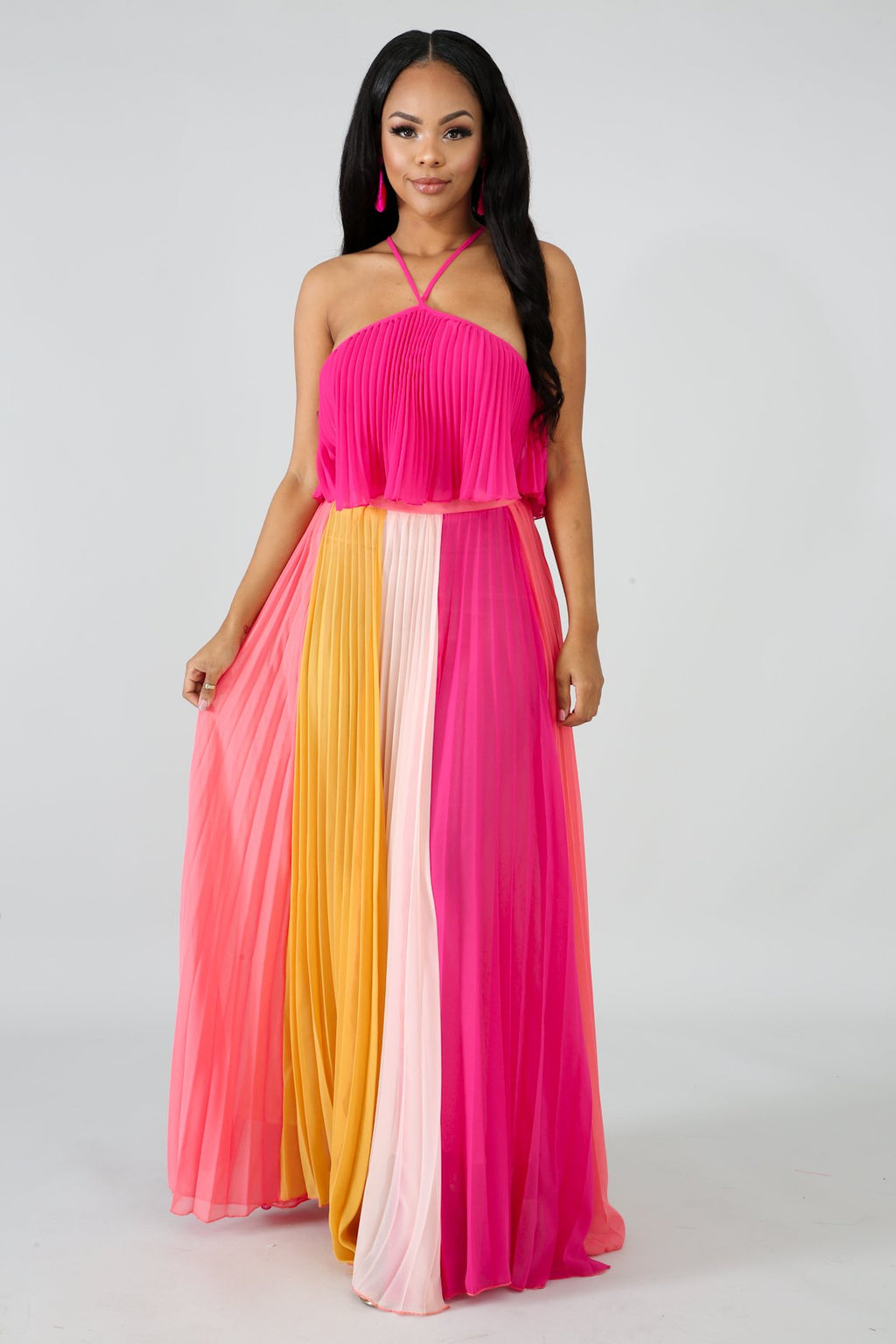 Bae-cation Maxi Skirt Set