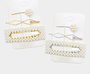 Pearl Hair Pins 3pc Set