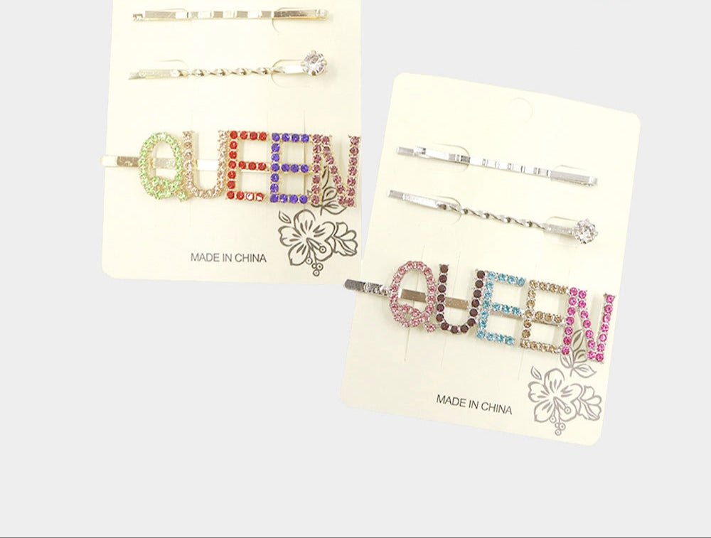 Glam Pin 3pc Set Multi-Color