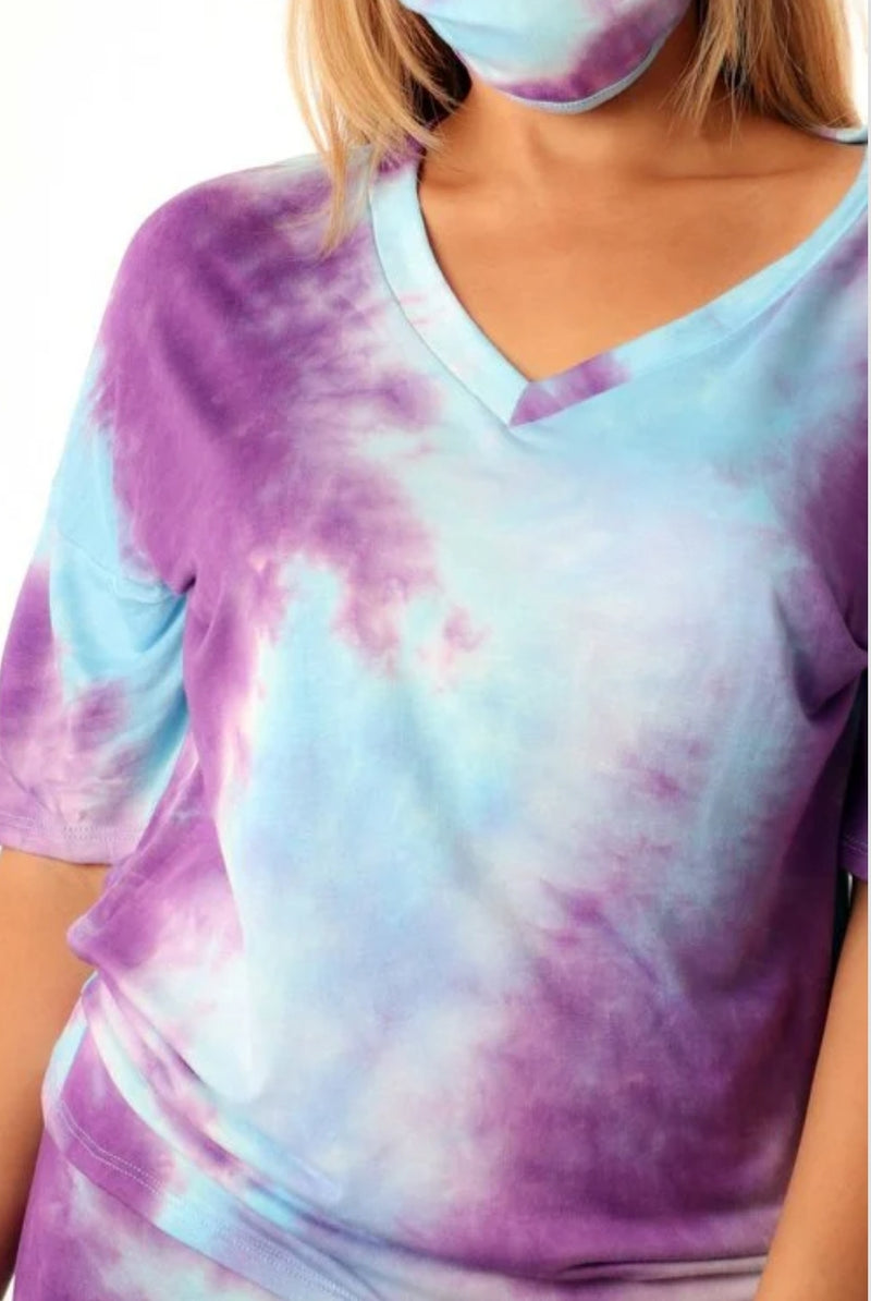 Chill Vibes Tie Dye Set W/Mask