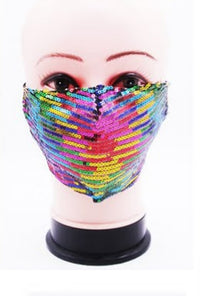 Sequin Rainbow Mask