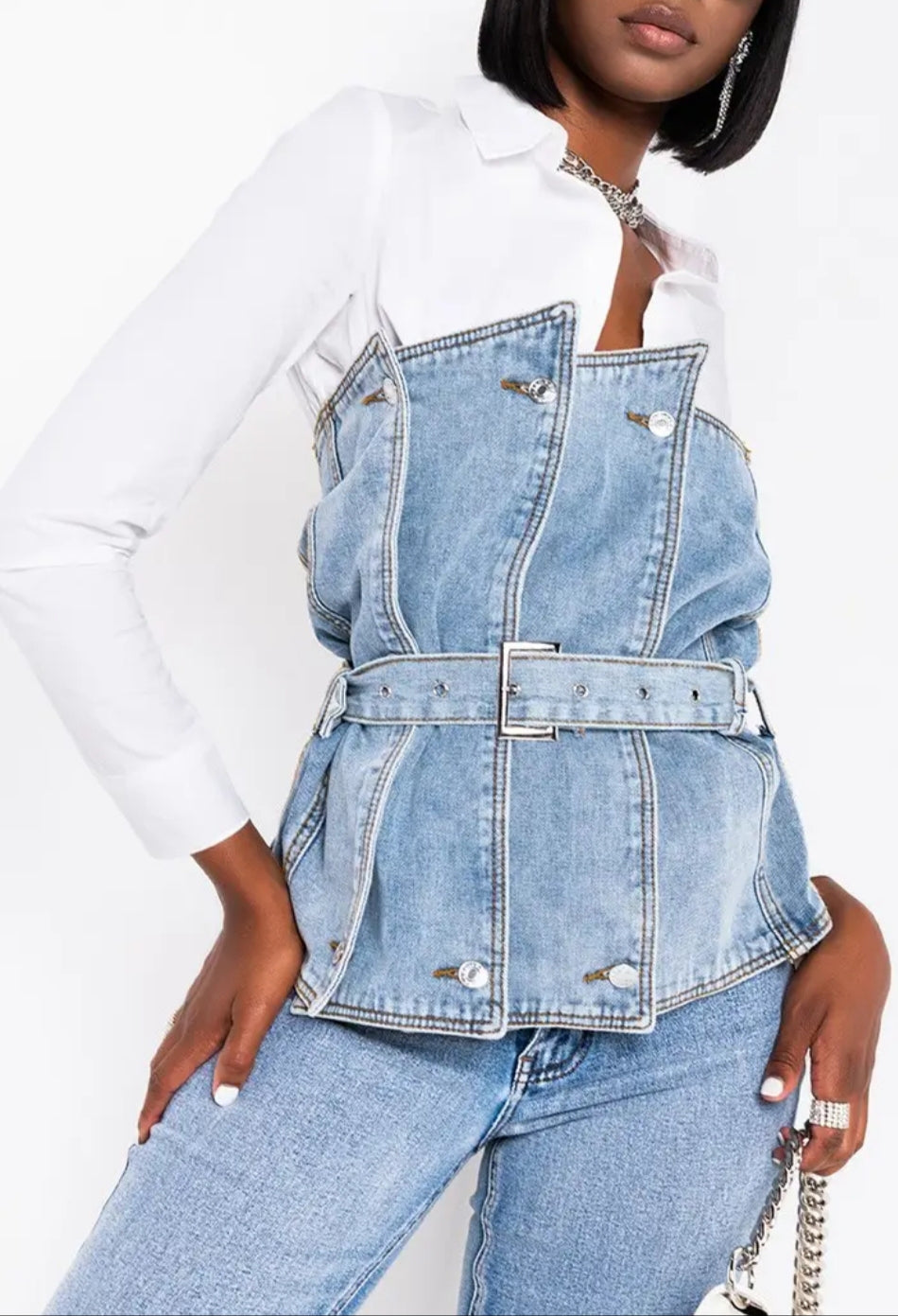 Cutting Edge Denim Corset