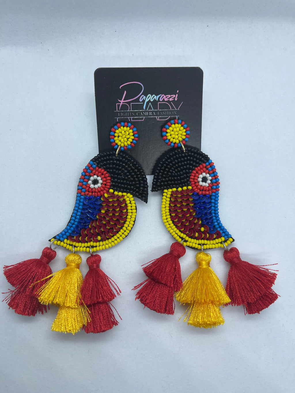 Beaded Parrot Earrings