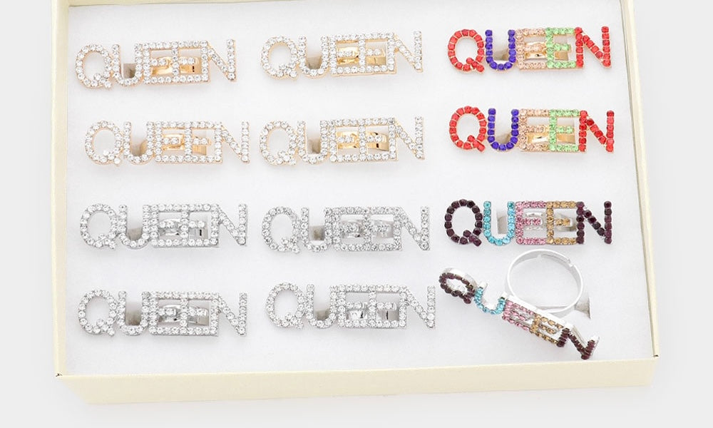 Rhinestone Queen Ring