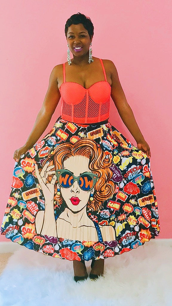 Comic Beauty Maxi Skirt