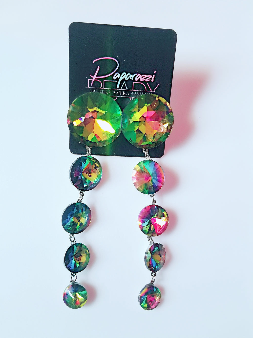 Prismatic Teardrop Earrings
