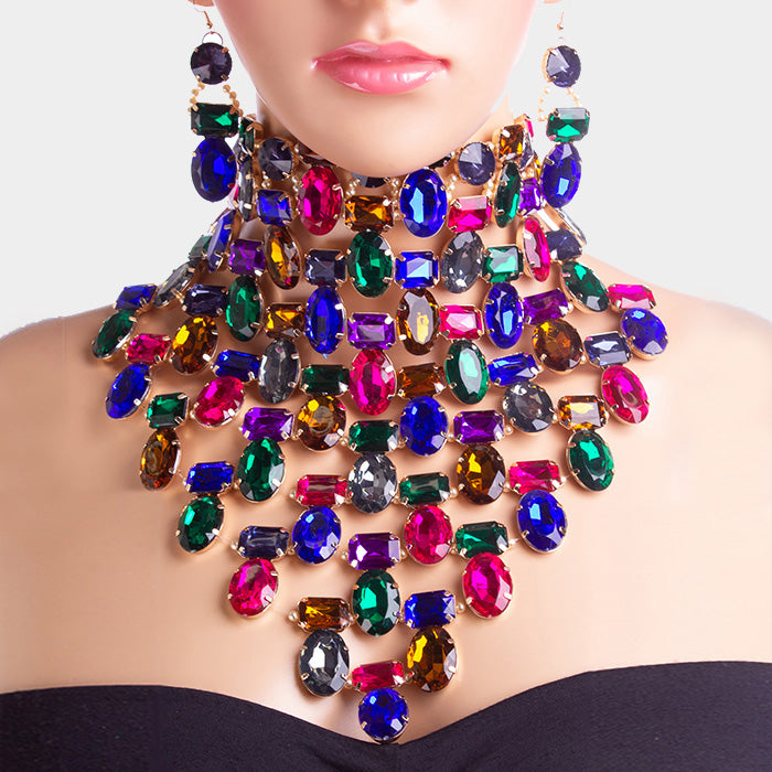 Own The Night Bib Choker Necklace Set