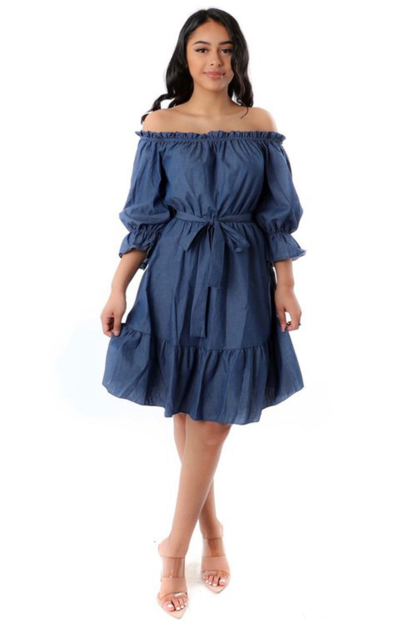 Off the Runway Denim Dress