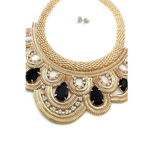 Snake Skin Chain Necklace & Earring Set
