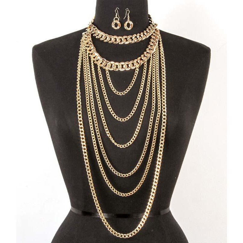 Urban Goddess Necklace & Earring Set