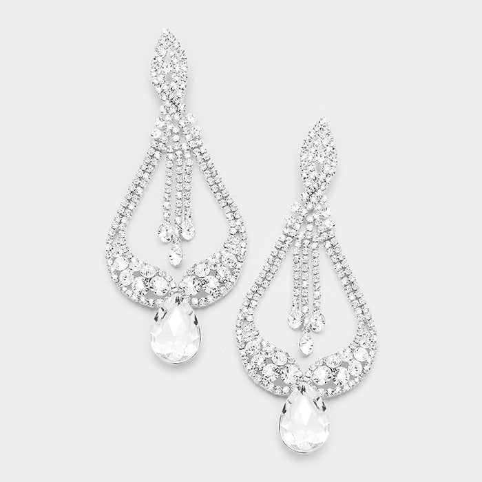 Crown Me Teardrop Chandelier earrings