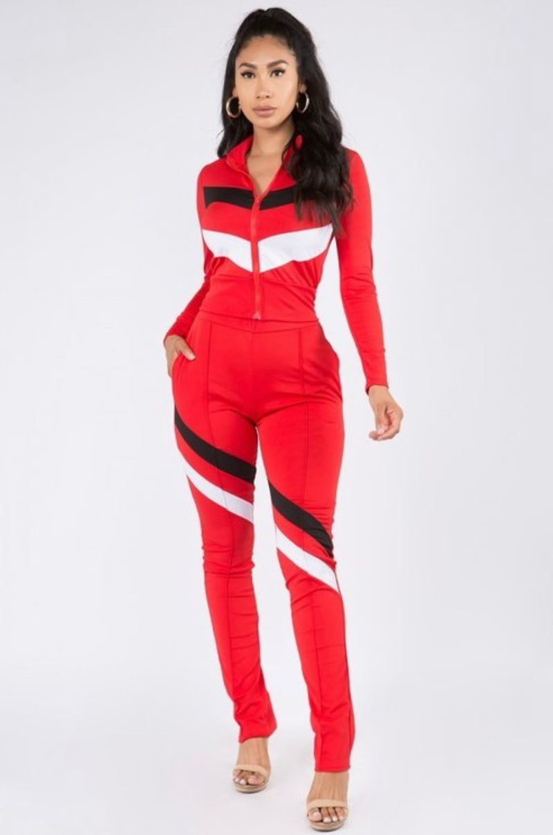 Barely Basic Color block Tracksuit