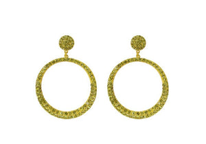 Classic Round Rhinestone Earrings