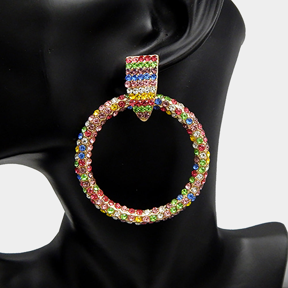 Majestic Rhinestone Earrings