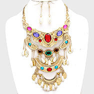 Bejeweled Statement Necklace & Earring Set