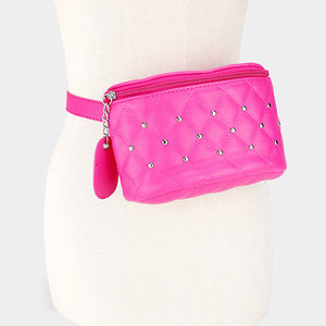 Studded Leather Fanny Pack