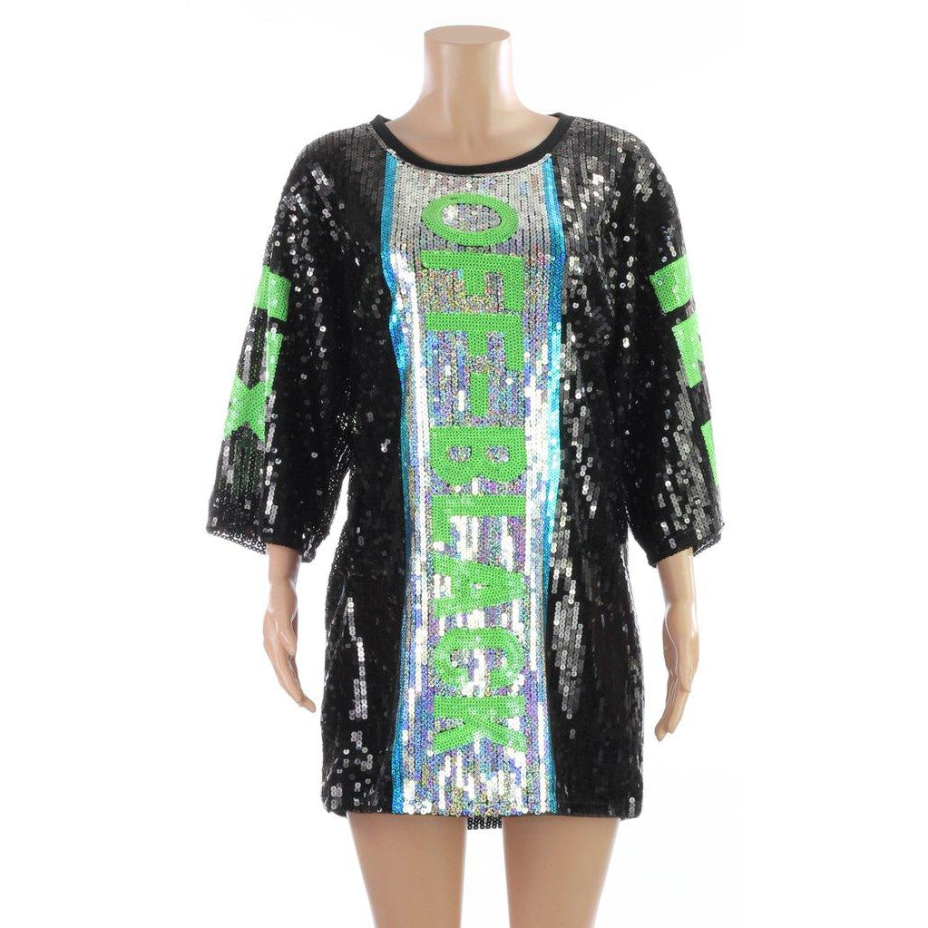 Off X Black Sequin Dress
