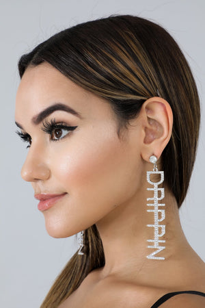 Drippin Rhinestone Earrings