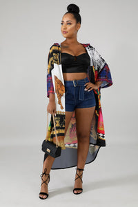Jungle Fever Cardigan mid length