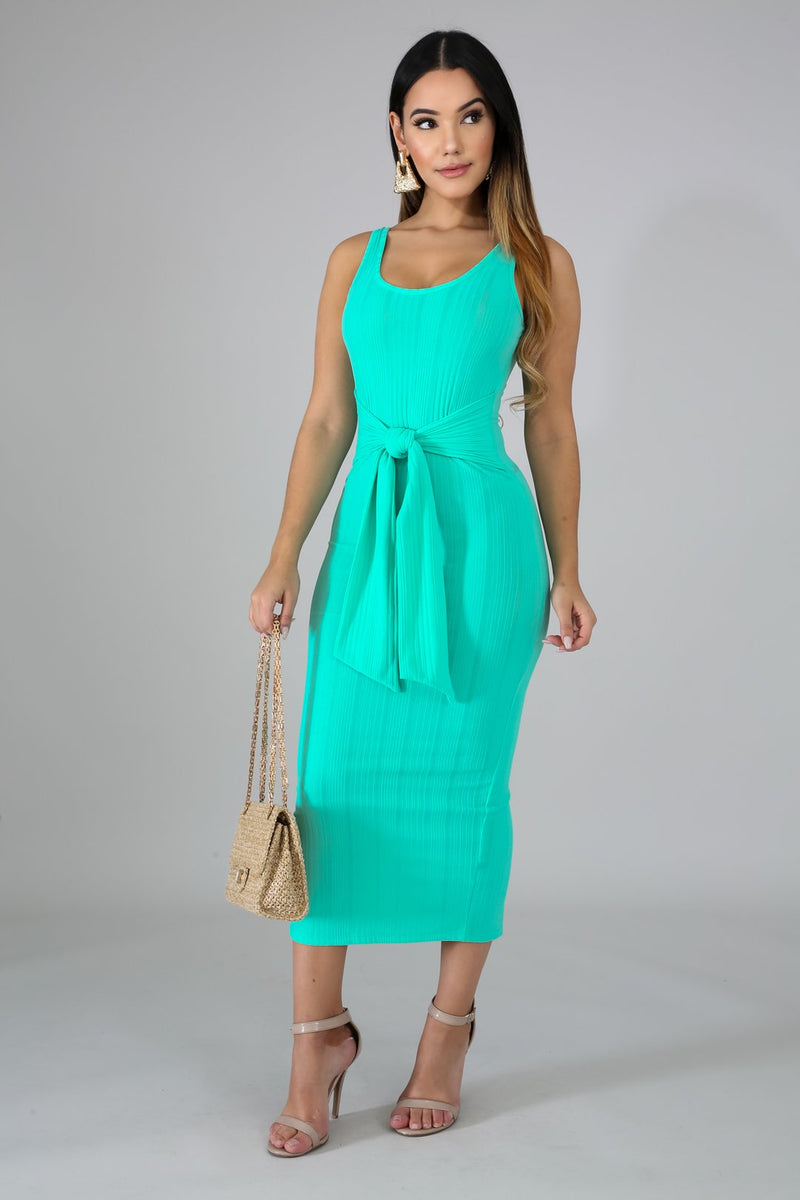 Aquatic Tie front Dress