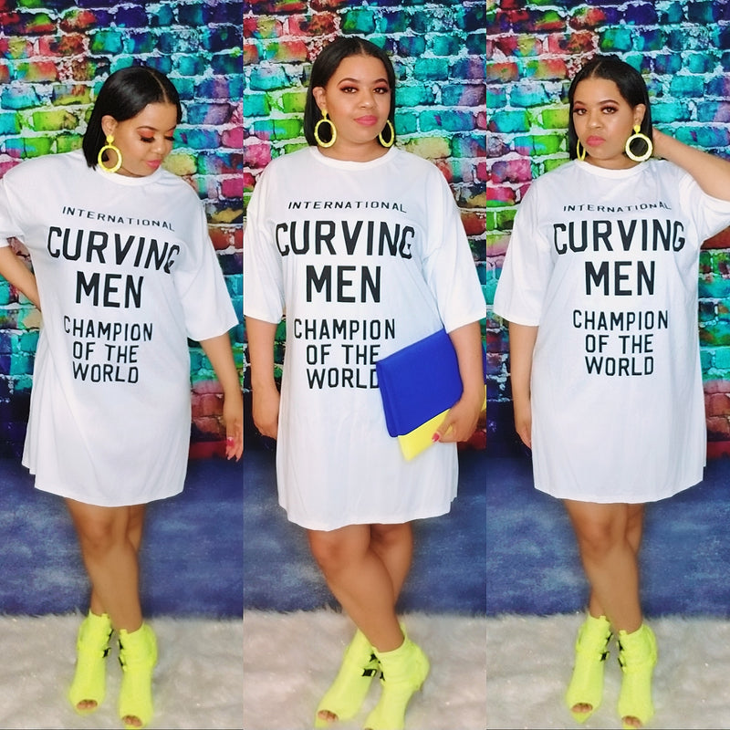 Curving Men Champ Shirt Dress