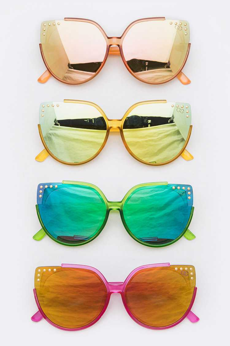 Spice it Up Mirrored Cat eye Sunglasses