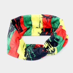 Bob Marley Knotted 2pc  Headband  Set