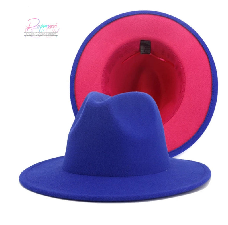 Color Block Fedora Hat