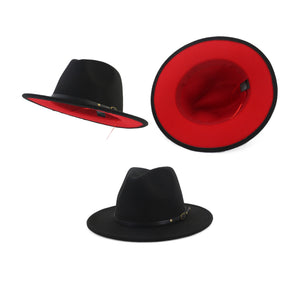 Red bottom Fedora Hat