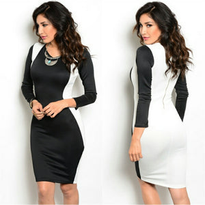 Ying Yang Dress (Black/Ivory)