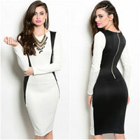 Ying Yang Dress (Ivory/Black)