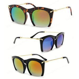 Cutting Edge Rimless Mirrored Sunglasses