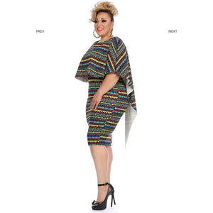 Aztec Print Cape Dress