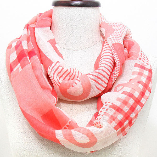 Breast Cancer Awareness scarf, pink ribbon, infinity scarves