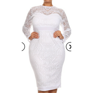 Crochet Midi Dress (Plus Size)
