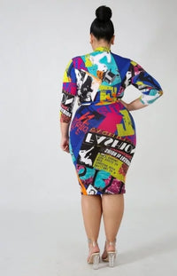 Making Headlines Bodycon Dress