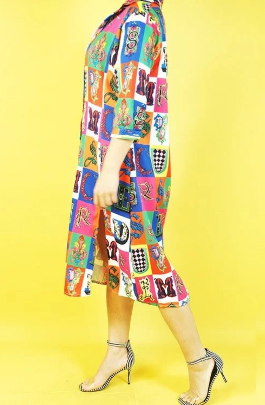 Fierce in Colours Shirt Dress