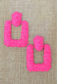 Neon Glory Door Knocker Earrings