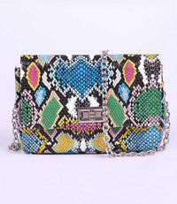 Rainbow Snake Shoulder Bag