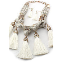 MULTI BRAIDED FABRIC NECKLACE SET