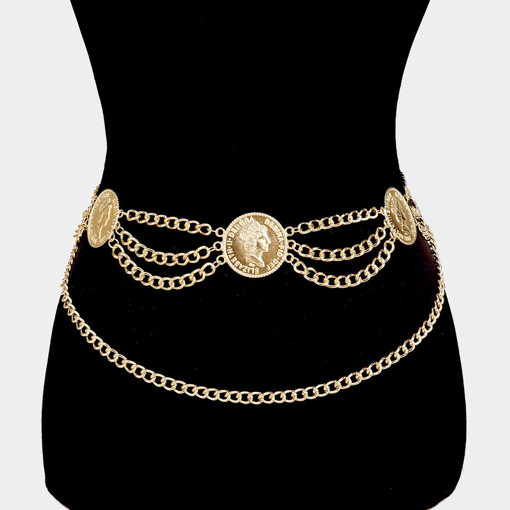 All the coins chain belt