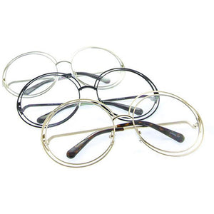 Clear Spiral Double Rimmed Sunglasses