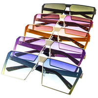 Sunglasses, Flat Top Sunglasses, Ombre Sunglasses
