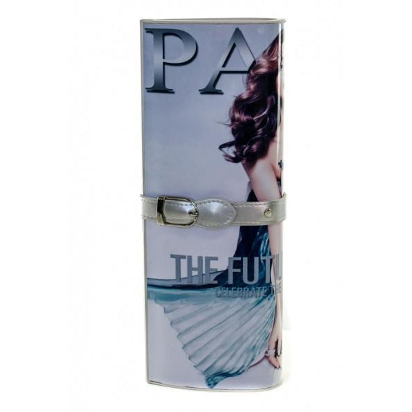 Paris Magazine Clutch (Silver)