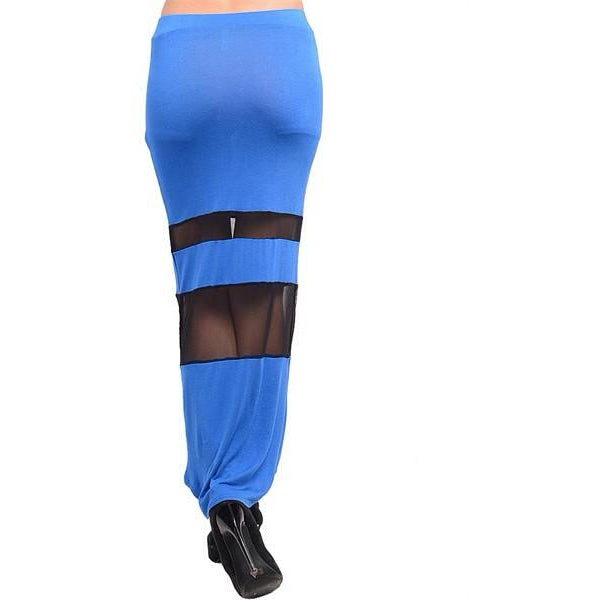 Royal Blue Bodycon Long Skirt