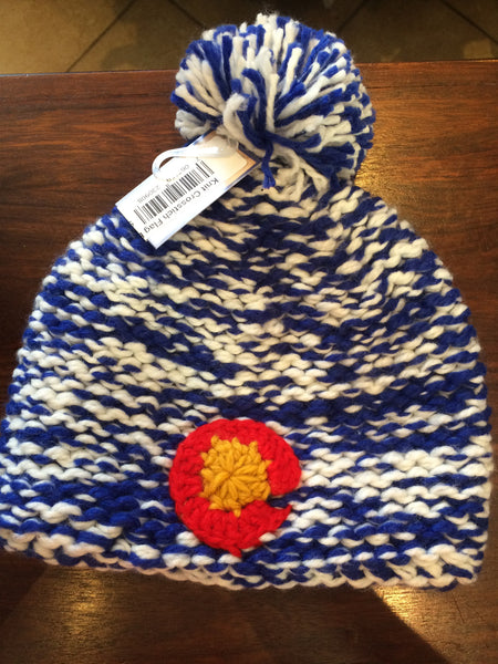 Royal Blue Heathered Colorado Flag Beanie