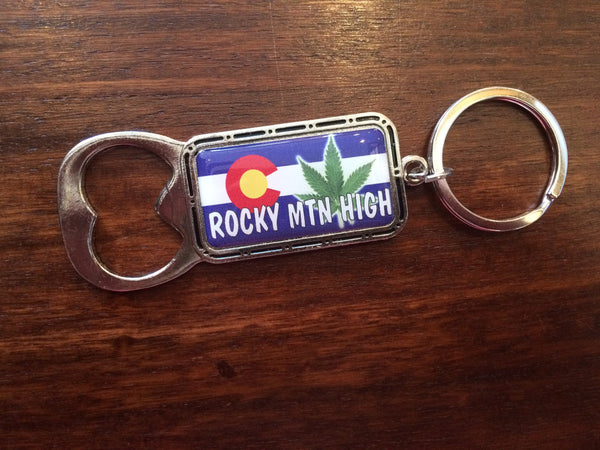 Rocky Mountain High Bottle Opener Keychain