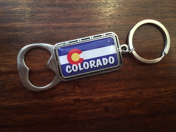 Colorado Flag Bottle Opener Keychain